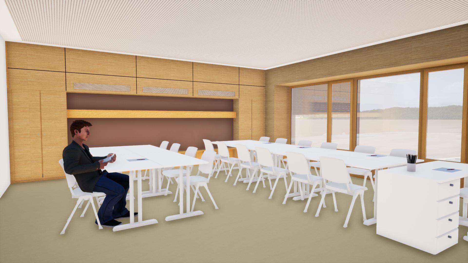 Bürgerversammlung Klassenzimmer Schulneubau